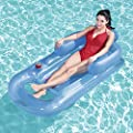 Jeeke Swim Lounger Ride-On Pool Float Lounge Raft Inflatable Rafts for Pool or Lake, Water Fun Summer Beach Swimming Floaty Party Toys for Kids & Adults