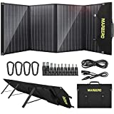 MARBERO 100W Solar Panel, Portable Foldable Solar Panel Kit Battery Charger with 18V DC Output, 3 USB Ports QC3.0 PD 60W Waterproof for Portable Power Station Generator, Boat, RV, Camping