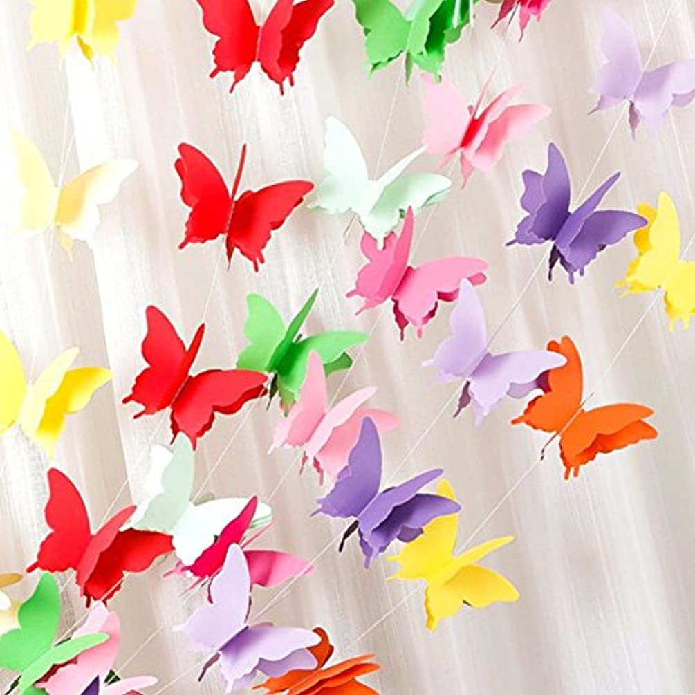 Rainbow Butterfly Paper Garland Party Decorations - Birthday Decorations,Birthday Party Decorations,Party Decorations,Wedding Decorations,Wedding Shower Decorations,Birthday Decorations for 1st