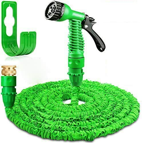 Sumkica 100FT Expanding Garden Water Hose Pipe Flexible Magic Hosepipes With 7 Function Watering Gun Tap Connectors for House/Car/Floor/Yard Wash-03