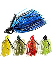 THKFISH 20g Jigs de Pesca Señuelos de Pesca en mar de Agua Dulce Color Mezclado Señuelos de hundimiento para Lucio Perca Trucha Bajo 5 Piezas