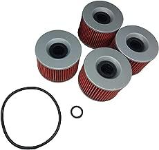 Hity Motor 4 PCS Oil Filter HF401& KN401 For Honda CB 350 400 500 550 650 750 1000 Kawasaki EX250 KZ700 ZX400