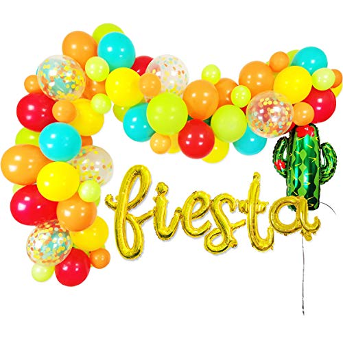 Cactus Party Decorations - 86 Pack Latex Balloons Cactus Balloon Garland Strip Set for Llama Party Supplies, Cactus Birthday Party, Cactus Baby Shower Decorations, Fiesta Party Decorations