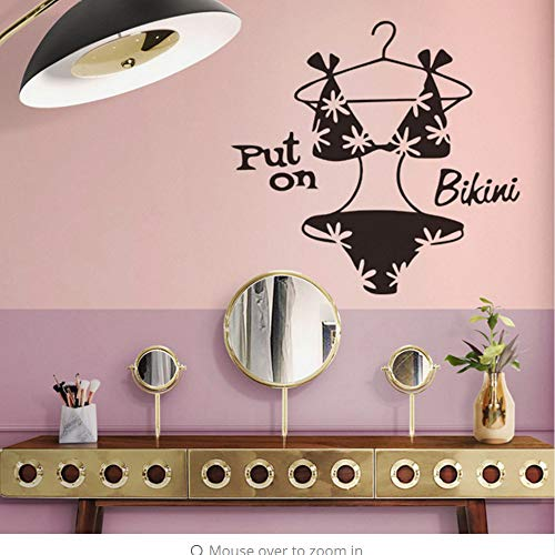 Wall Stickers Mode Kreative Bikini Kleiderschrank Schlafzimmer Kommode Wohnkultur Wohnzimmer Wand Dekorative Wandaufkleber 57 * 54 Cm
