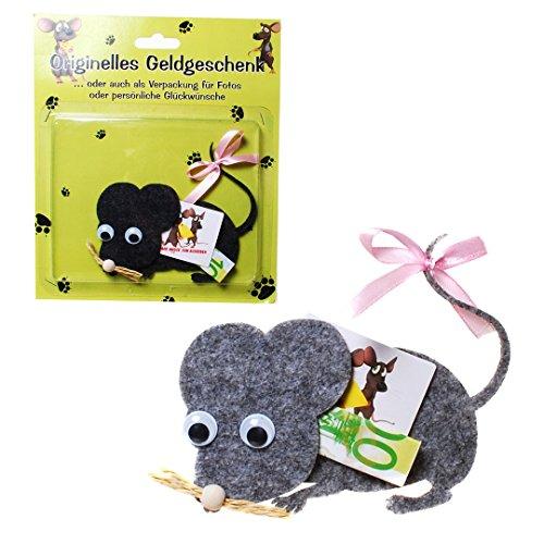 """Geldgeschenk """"Maus"""", sortiert Filz, 8,5 x 10,5 cm"""