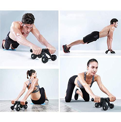 TOMSHOO 5-en-1 AB Roller Kit de Ejercicio con 4 Ruedas+Bandas Elasticas+Cuerda de Salto+Rodilla Mat para Abdominales Ejercicio,Pilates,Ejercicios en Casa: Amazon.es: Deportes y aire libre