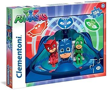 Clementoni PJ Masks Supercolor Puzzle Rompecabezas, Multicolor, 104 Piezas, 27092