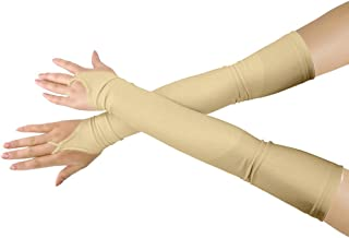 Girls' Boys' Adults' Stretchy Lycra Fingerless Over Elbow Cosplay Catsuit Opera Long Gloves