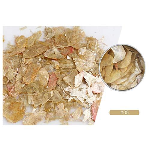 Janly Clearance Sale Nail Rock Slice Mica Slice Shell Slice Slice Thin Fragment Mix Pieza Ornamento de Uñas para Mujeres Hogar Nail Art (E)
