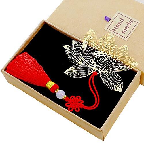 Metall Messing Lotus Buch signieren hohlen Schmetterling 蜻蜓 Lesezeichen