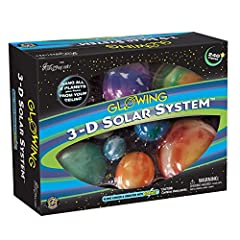 With the 3D solar system from great Explorations, you can stargaze at the magnificent celestial sky in your own room! This beautiful set comes with a host of fascinating planetary facts Includes over 200 glow-in-the-dark planets and stars to hang fro...