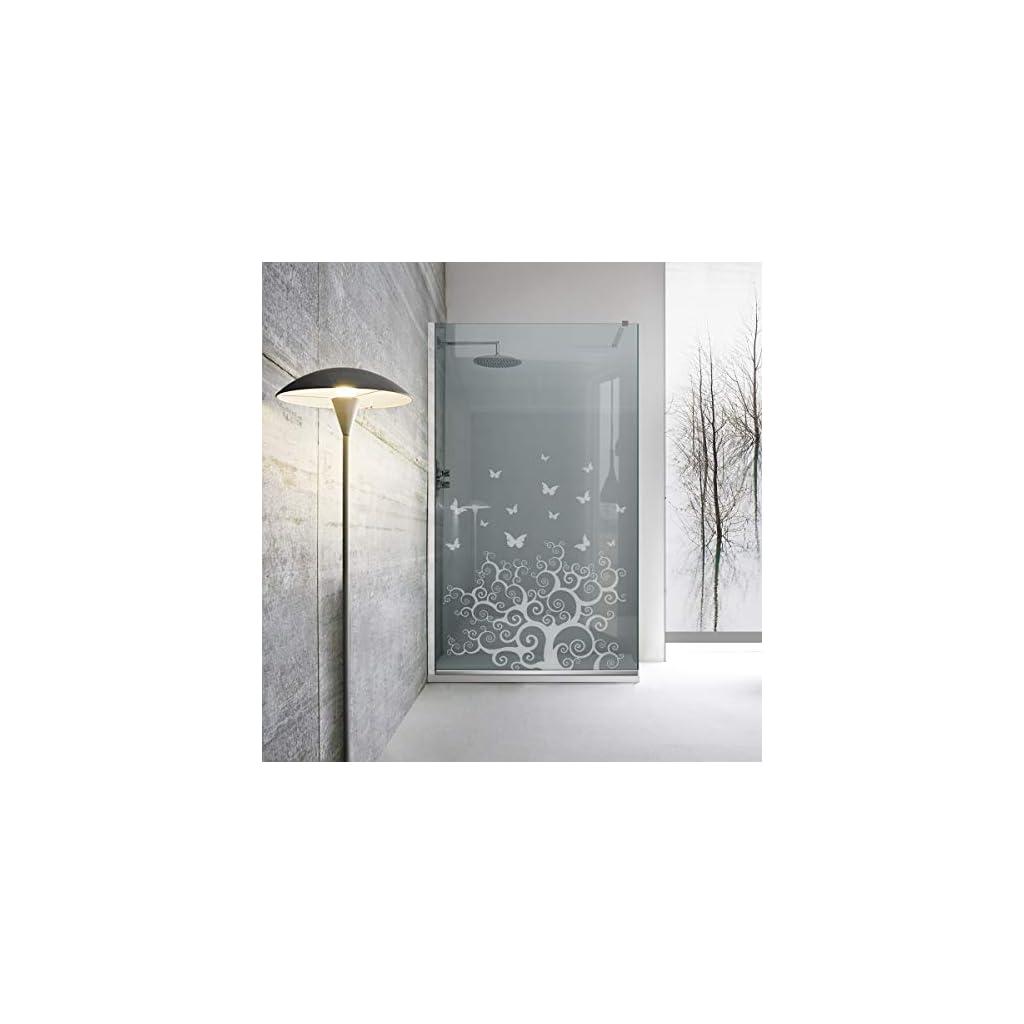 Paroi de douche à l'italienne Leroy Timeless – Life Tree – Verre de sécurité trempé de 8 mm – Revêtement nano…