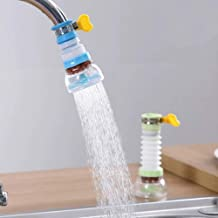 TOTAM PVC 360 Degree Rotation Water Saving Faucet Adjustable Water Valve Splash Regulator Water Filter Tap Kitchen Accessories, Random Color, Painted Finish