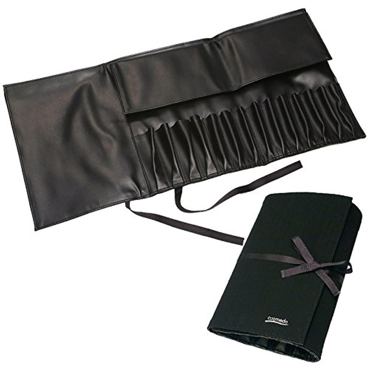 義務付けられたマトン屋内匠の化粧筆コスメ堂 レギュラータイプ用メイクブラシ収納ケース大(14本収納)スウェードタイプ
