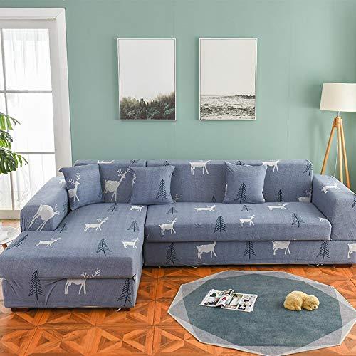 Funda de sofá nórdica, Juego de algodón, Funda de sofá, Funda de sofá elástica para Sala de Estar, sofá Chaise Longue en Forma de L, sofá A8 de 3 plazas