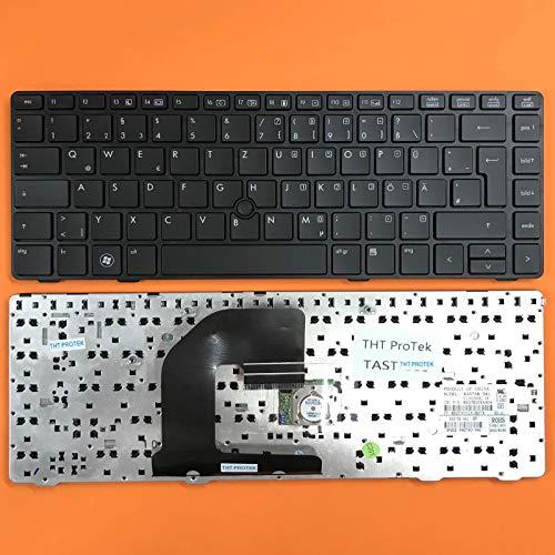 kompatibel für HP EliteBook 8460W Tastatur - Farbe: schwarz - mit schwarz Rahmen - Deutsches Tastaturlayout