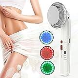 Masajeador de belleza facial y corporal 7 en 1 EMS, dispositivo de fisioterapia facial, terapia LED profesional Quemador de grasa para cavitación corporal Masajeador de eliminación(Blanco)