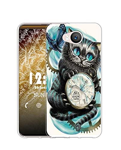 Sunrive Kompatibel mit Elephone P9000 Lite Hülle Silikon, Transparent Handyhülle Schutzhülle Etui Hülle (Q Katze 2)+Gratis Universal Eingabestift MEHRWEG