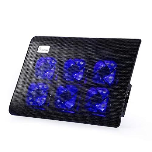 Cómodo diseño ergonómico Super Mute 6 Ventiladores Refrigerador del portátil Placa Base del Ventilador del Ordenador portátil