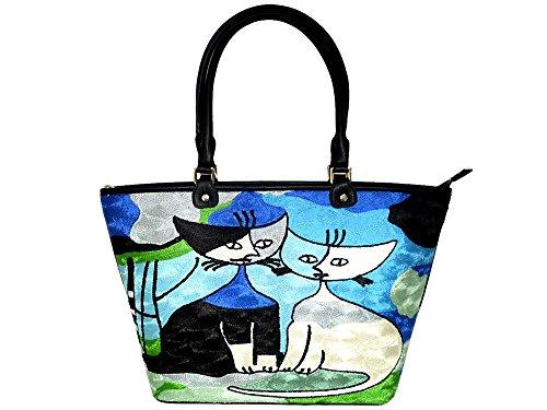 【レディース バッグ】トルコ アート刺繍 猫 ロジーナ ウォッチマイスター シリーズ