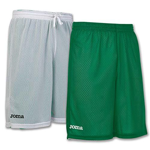 Joma Short Basket Reversible Rookie Verde-Blanco Pantalones Cortos, Hombres, Verde-Blanco-450, M
