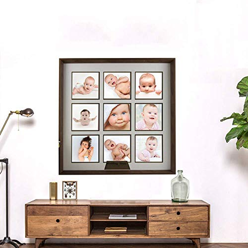 Männliche und weibliche Baby Jahre alte Bilderrahmen Wachstum Gedenkfoto Wand Platz Moderne hängende Wand niedlich kreative Kinder Fotorahmen