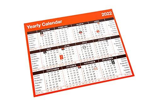 2022 Yearly Desktop Calendar Free Standing Planner YC1
