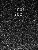Agenda 2021-2025: 2021-2025 Planificador de Cinco Años, Planificador diario de cinco años, libreta, anotar, agenda y diario personal, calendario de 60 meses, cita de 5 años | Diseño Negro
