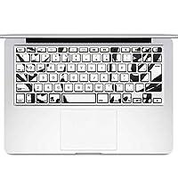 igsticker MacBook Air 13inch 2010 ~ 2017 専用 キーボード用スキンシール キートップ ステッカー A1466 A1369 Apple マックブック エア ノートパソコン アクセサリー 保護 011622 アニマル 動物 ホワイトタイガー