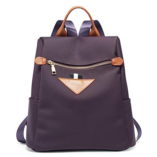 Backpacks Purse for Women Canvas Fashion Travel Ladies Designer Shoulder Bag Purple