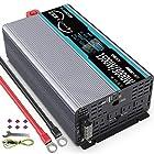 【タイムセール】インバーター 正弦波 1500W 12Vを100Vに変換 50hz/60hz切り替え可能 瞬間最大3000W 2USBポート付き ACコンセント 3口(リモコン別途購入可能 )が激安特価!
