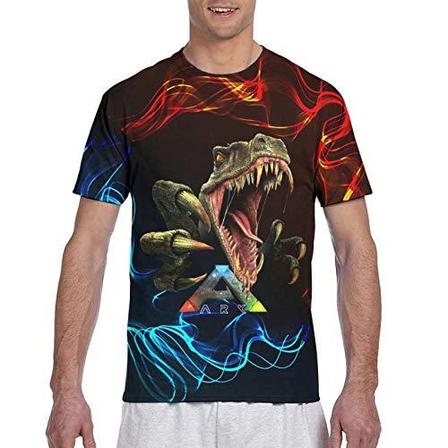 Ark-Survival Evolved Herren Kurzarm T-Shirt 3D Bedruckte T-Shirt Kleidung für Junge Männer S-3xl Crew Neck Tops L