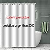 Customize Shower Curtains for Bathroom Personalized Bath Curtains Add Your Own Designs Chic Funny Bathtub Curtains Home Decore
