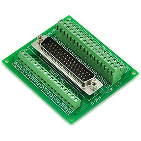 DB50 Female Header Breakout Board Right Angle Terminal Solderless 50p Connector