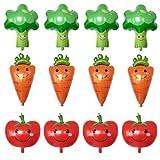 STOBOK 12 Piezas de Globos de Verduras para Hawaii Luau Fiesta de cumpleaños Suministros niños Globos Divertidos Baby Shower Decoraciones (brócoli + Zanahorias + Tomates)