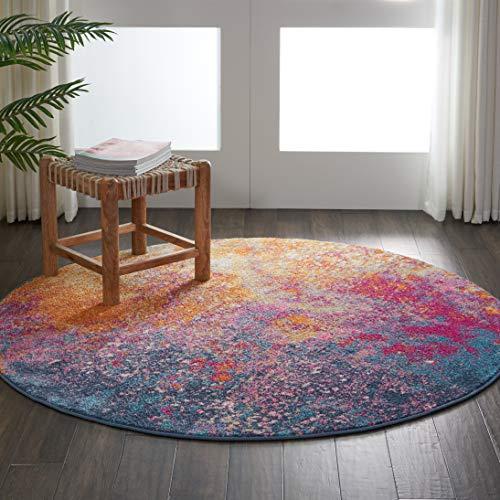 Marca de Amazon - Movian Vacha, alfombra redonda, 160 x 160 cm (diseño geométrico)