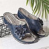 MRDUEWS Zapatos de playa de verano, Sandalias de soporte de arcos, Sandalias Flor de mujeres Diseño ...