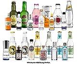 Gin Tonic Probierset 24 Flaschen - 12 Gin Sorten + 12 Tonic Sorten