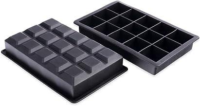 Schramm® 2 stuks ijsblokjesmallen 3,5 cm gemaakt van voedselveilige siliconen BPA-vrije siliconenmallen Ijsblokjesmaker Ij...