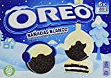 Oreo Bañadas - Galletas de Cacao Rellenas de Crema y Bañadas en Chocolate Blanco - 6 Bolsitas, 246 g