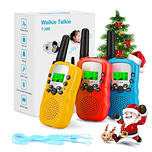 Fansteck Walkie Talkie, 3 pcs Walkie Talkie Niños 8 Canales