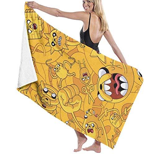 XCNGG Toallas de baño Divertidas y Bonitas de Adventure Time, Toalla Absorbente de baño Grande y Suave, Las Mujeres y los Hombres se aplican a Las toallitas Deportivas de Playa