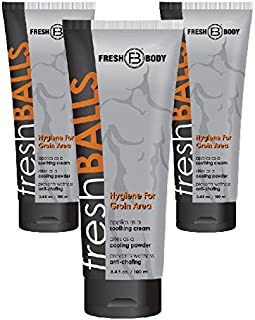 Fresh Balls Lotion The Solution for Men - 3 Pack - 3.4 Oz
