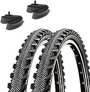 2x Bike Bicycle 24x1.95 47-507 Semi-Slick TYRES AND TUBES Small Mountain bike mtb/Hybrid Bike