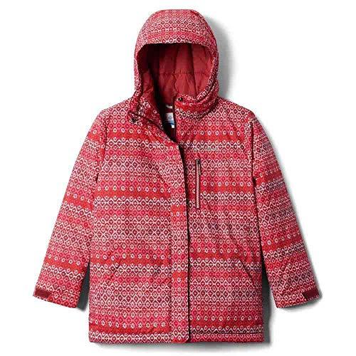 Columbia Dziewczęce 574 kurtki czerwony czerwony (Marsala Red/Diamond Stripe Print) M