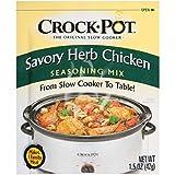 Crock Pot Seasoning Mix, Savory Herb Chicken, 1.5 Ounce (Pack of 12)