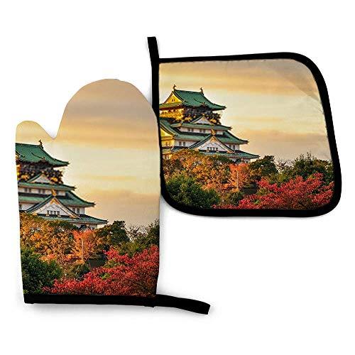 uytrgh Burg Osaka Japan Qsilicone Oven Mitts Impermeables Mitones De Cocina Porta Ollas Antideslizantes