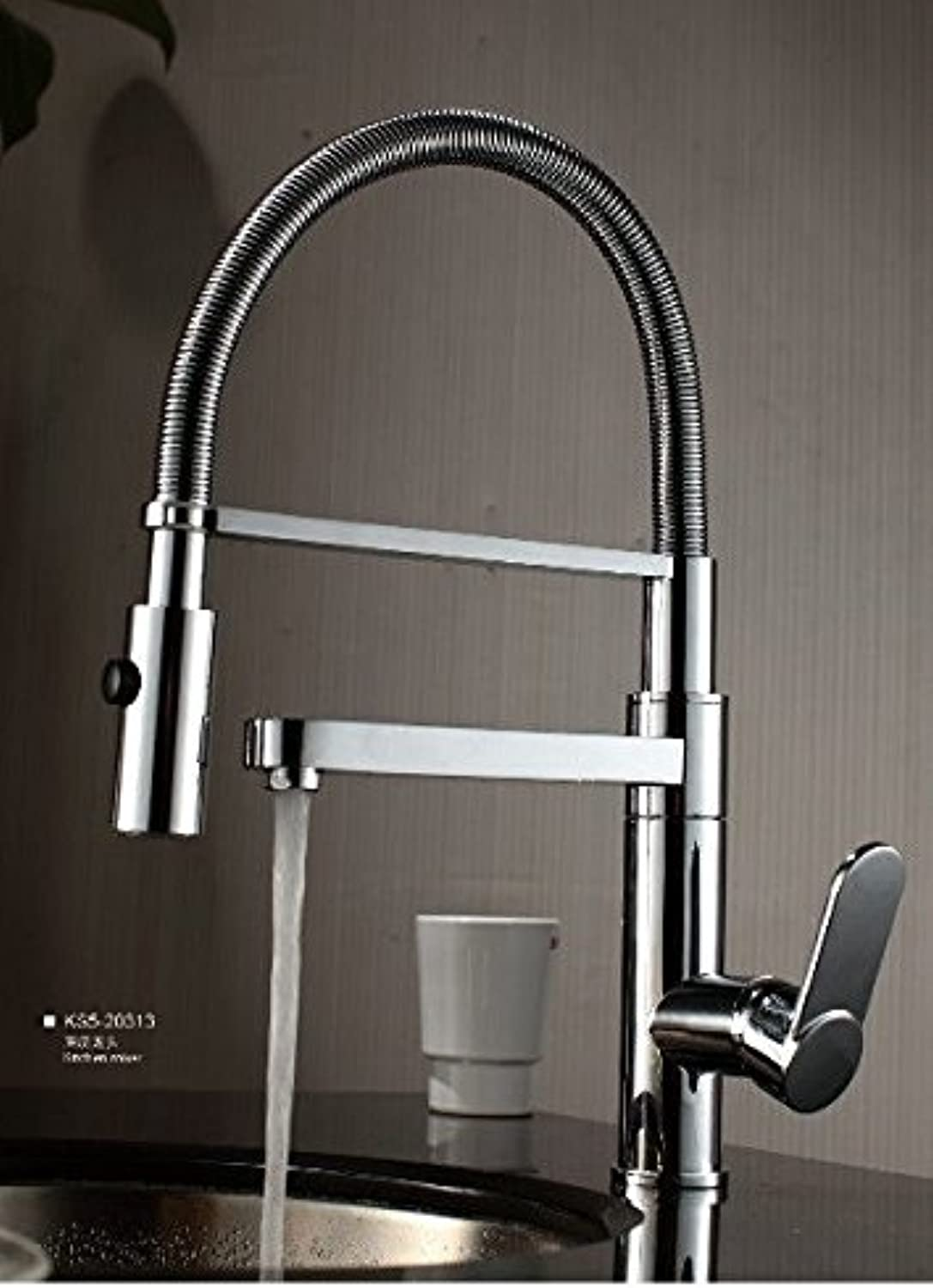 ETERNAL QUALITY Bathroom Sink Basin Tap Brass Mixer Tap Washroom Mixer Faucet Kitchen faucet to turn full-copper-water taps A Kitchen Sink Taps