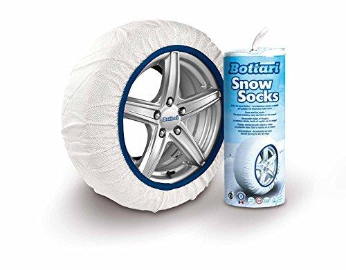 Bottari 68061: Calze da neve per auto, Taglia M, Prodotto compatibile con gli pneumatici 4 stagioni o invernali