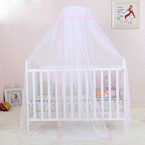 JUSTDOLIFE Child Mosquito Net Cuna Cortina Transpirable Lace Dome Bed Cortina para El Hogar